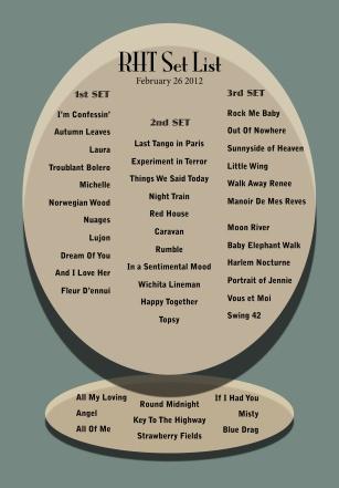 RHT Set List_Feb26_2012
