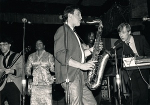 Playing with the R&B band Metropol 1984 Chicago