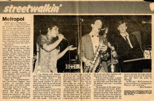 Metropol review June 1984 Chicago