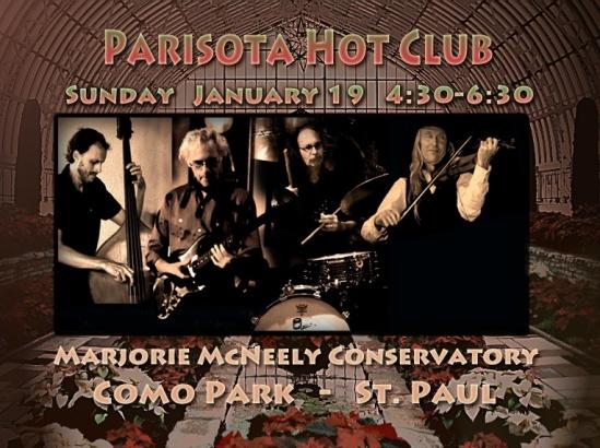 Parisota Hot Club at Como Conservatory Sunday January 19 2014