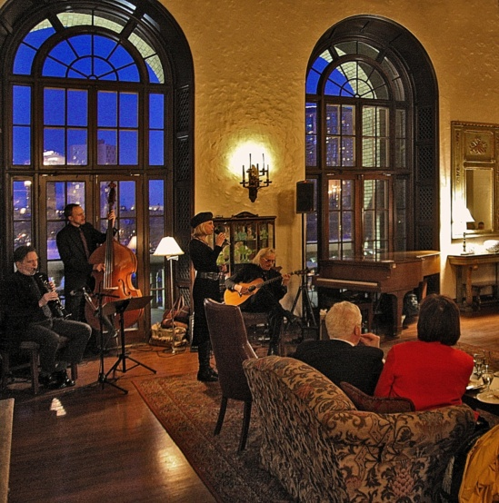 Parisota Hot Club with vocalist Connie Evingson at the Woman's Club of Minneapolis